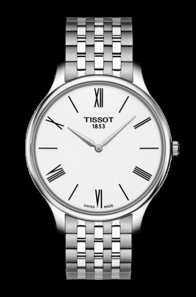 Tissot Herrenuhr Tradition 5.5  mit Weißen Zifferblatt 39mm T063.409.11.018.00