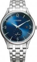 Citizen Eco-Drive Herrenuhr Quarz 40mm Blaues Zifferblatt mit Edelstahl Metall-Armband BV1111-75L | UHREN01