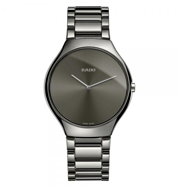 Rado True Thinline Grau Keramik 39mm Quarz Uhr Herren & Damen R27955122 | Uhren01