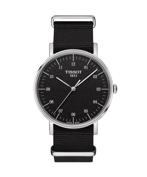 Tissot Everytime Medium Herrenuhr 38mm schwarz Textil-Armband Quarz T109.410.17.077.00