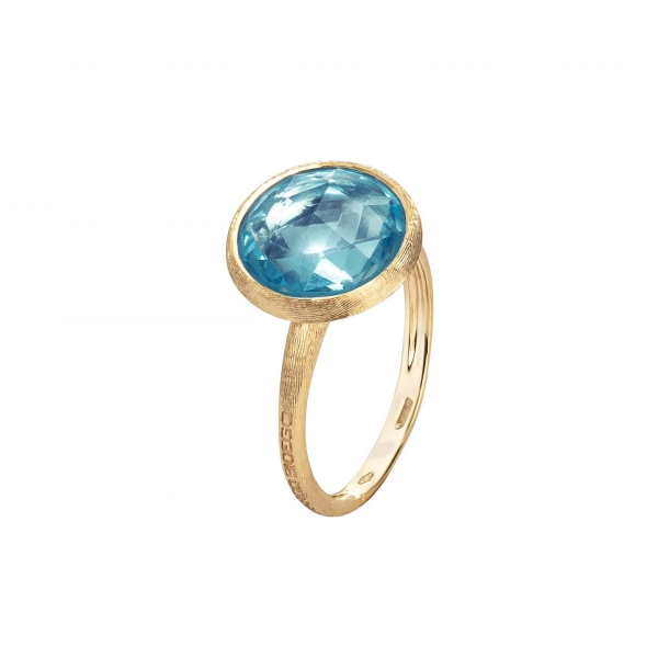 Marco Bicego Ring Gold mit blauem Topas Edelstein Jaipur AB586-TP01