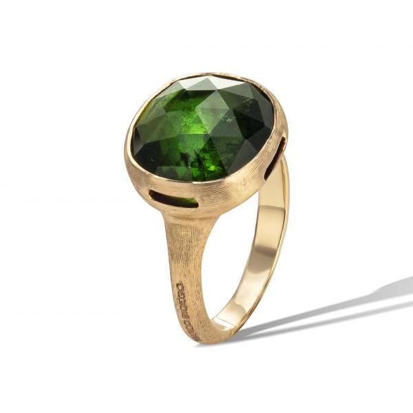 Marco Bicego Ring mit grünem Turmalin Edelstein Gold 18 Karat Jaipur Color AB617 TV01 Y