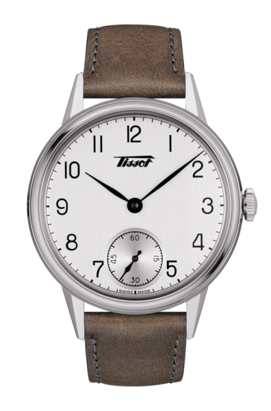 Tissot Heritage Petite Seconde Herrenuhr Mechanikwerk mit Handaufzug 42mm silbern Leder-Armband T119