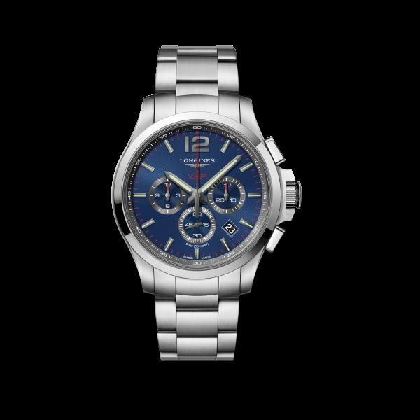 Longines Conquest VHP. 44mm Herren-Uhr Edelstahl silber blau L3.727.4.96.6 zum günstigen Preis online kaufen | UHREN01