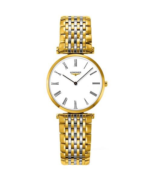Longines La Grande Classique Damen-Uhr Bicolor Gold SIlber Zifferblatt weiß L4.512.2.11.7 zum günstigen Preis online kaufen | UHREN01