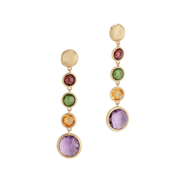 Marco Bicego Ohrringe Gold mit Edelsteinen Mix Jaipur Color OB901 MIX01 Y