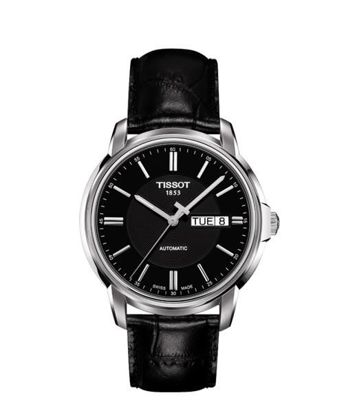 Tissot Automatics III Herrenuhr Automatik 40mm Zifferblatt schwarz Leder-Armband T065.430.16.051.00