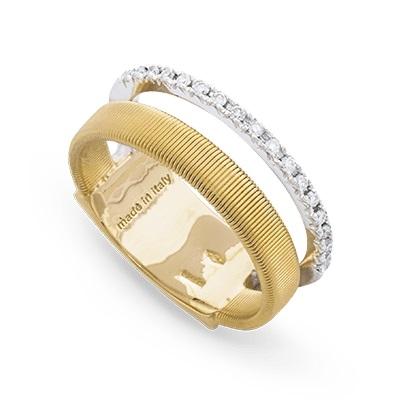 Marco Bicego Ring Gold mit Diamanten 2 Stränge Masai AG324-B