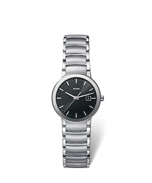 Rado Centrix S R30928153 Damenuhr mit schwarzem Zifferblatt in 28 mm