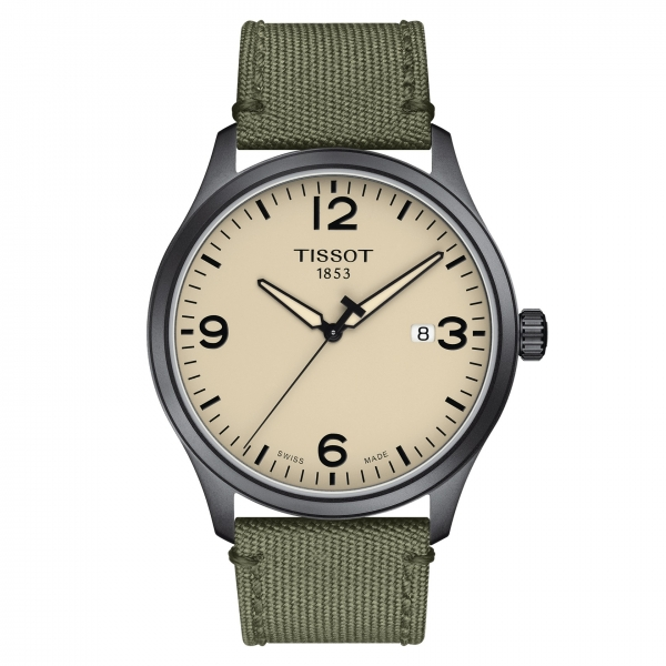 Tissot Gent XL Herrenuhr Quarz Grün Textil-Armband 42mm T116.410.37.267.00 | UHREN01