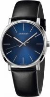 Calvin Klein Herrenuhr blau Lederarmband schwarz 40mm Posh K8Q311CN