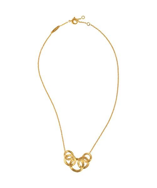 Marco Bicego Jaipur Link Halskette Gold mit fünf Ringen 18 Karat CB1375 | UHREN01