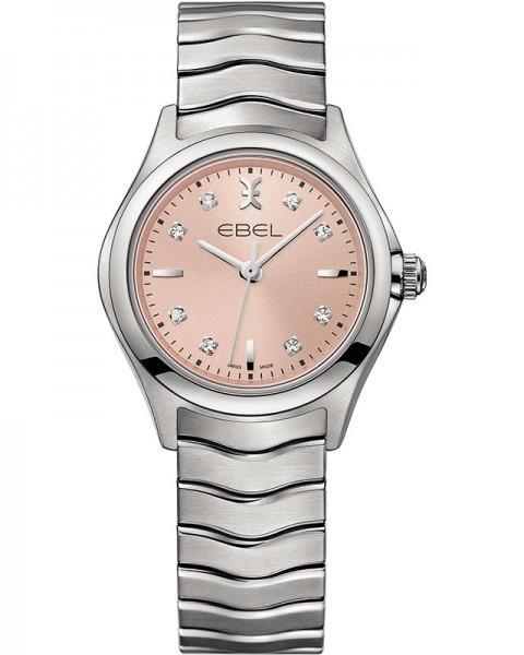 Ebel Wave Lady Quarz Uhr 1216217 mit 8 Diamanten