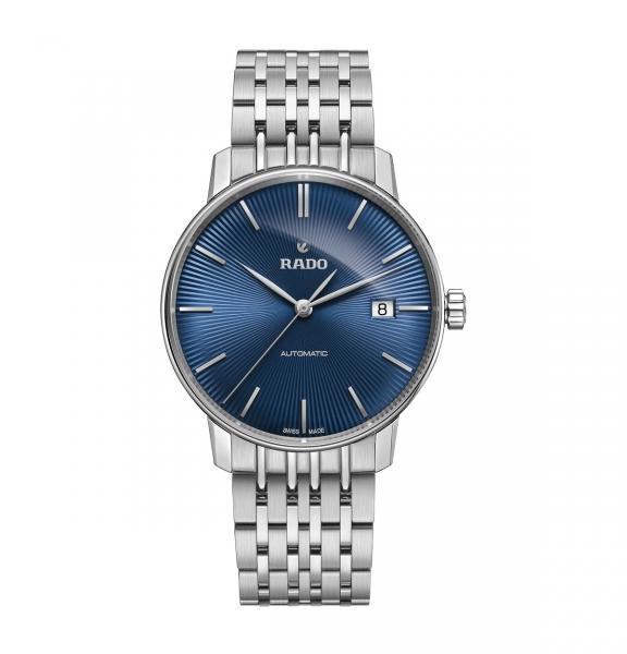 Rado Coupole Classic Automatic Herrenuhr 38mm Silber Blau Edelstahl-Armband R22860204
