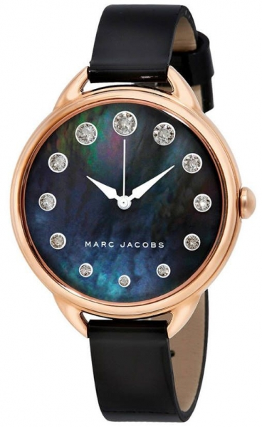 Marc Jacobs Betty Damenuhr Rosegold Schwarz Perlmutt MJ1511