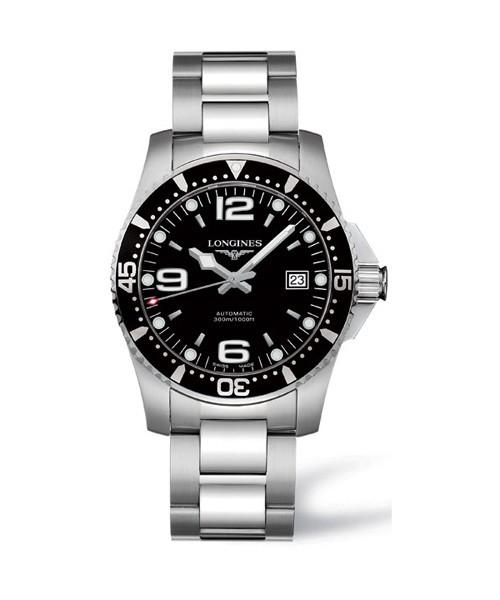 Longines HydroConquest Automatic 41mm Herren-Uhr Edelstahl schwarz L3.742.4.56.6 zum günstigen Preis online kaufen | UHREN01