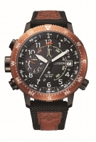 Citizen ProMaster Land Eco-Drive Herrenuhr Schwarz & Braun Quartzuhr 46mm BN4049-11E | UHREN01