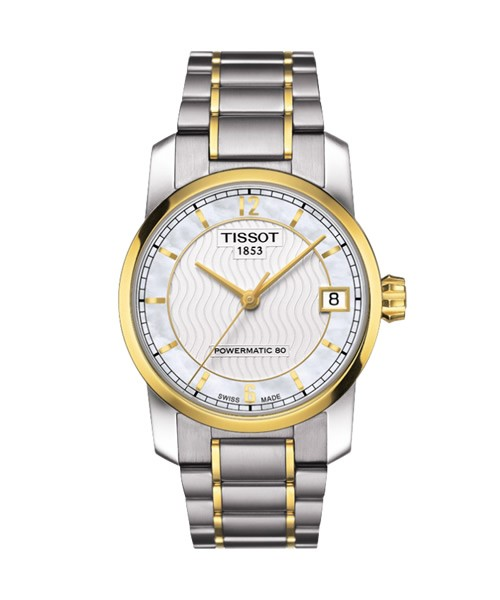 Tissot Titanium Powermatic 80 Damenuhr bicolor 32mm T087.207.55.117.00