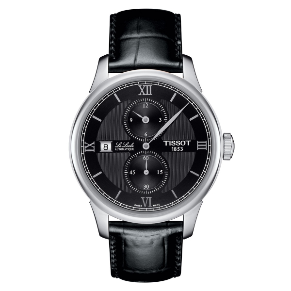 Tissot Le Locle Regulateur Automatik Herrenuhr 39mm Schwarz Leder-Armband T006.428.16.058.02