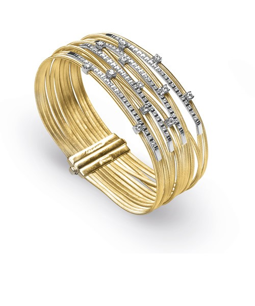 Marco Bicego Damen Armband Goa 18cm aus 18kt Gold mit Diamanten BG687 B2