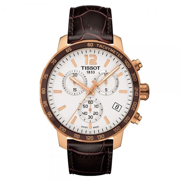 Tissot Quickster Chronograph Rosegold Leder-Armband 42mm Quarz T095.417.36.037.00