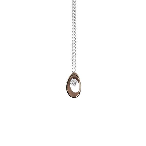 Annamaria Cammilli Halskette Schwarz Brown Chocolate Gold 18K Anhänger mit Diamanten Dune Assolo GPE1548C | UHREN01