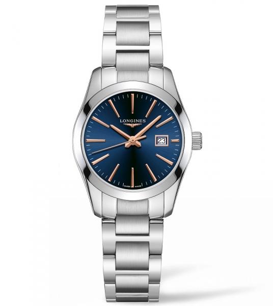 Longines Conquest Classic Damenuhr Silber Blau 29mm Edelstahl-Armband L2.286.4.92.6 zum günstigen Preis online kaufen | UHREN0