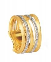 Marco Bicego Ring mit Diamanten Gold 18 Karat 5 Stränge Jaipur Link AB479-B
