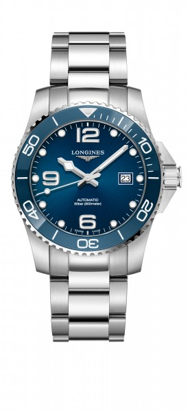 Longines HydroConquest Automatik Keramik 41mm blau Herren Uhr L3.781.4.96.6 zum günstigen Preis online kaufen