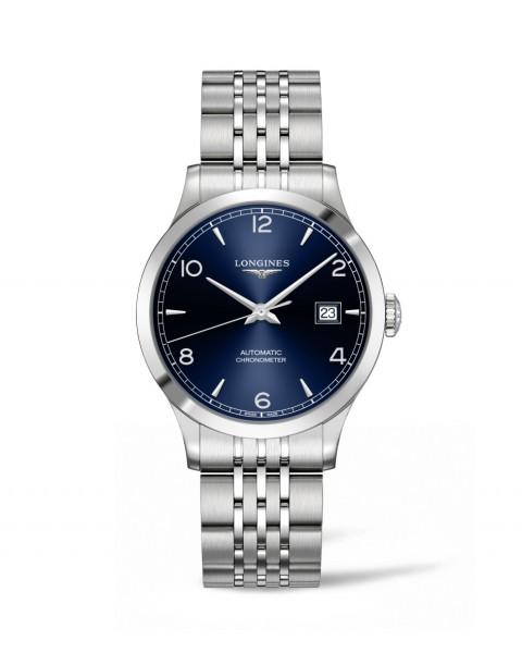 Longines Record Automatic 38mm Herren-Uhr silber Zifferblatt blau Edelstahl-Armband L2.820.4.96.6 zum günstigen Preis online kaufen | UHREN01