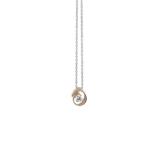 Annamaria Cammilli Halskette Natural Beige Gold 18 Kt Anhänger mit Diamanten Dune Assolo GPE1547N | UHREN01