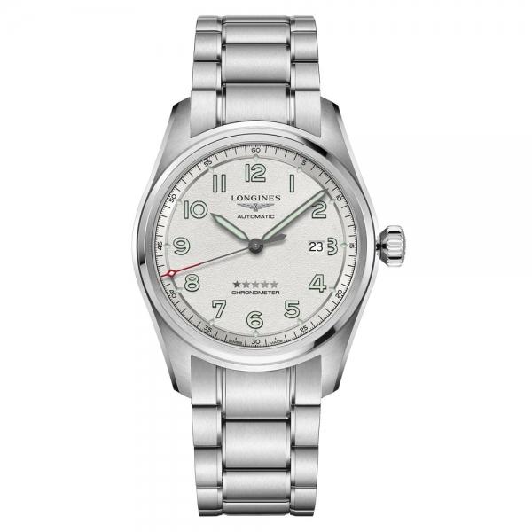 Longines Spirit Automatic 42mm Silber Edelstahl-Armband L3.811.4.73.6 | Uhren01