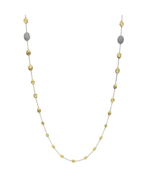 Marco Bicego Halskette Siviglia aus Gold 18 Karat mit Diamanten CB1731-B | UHREN01