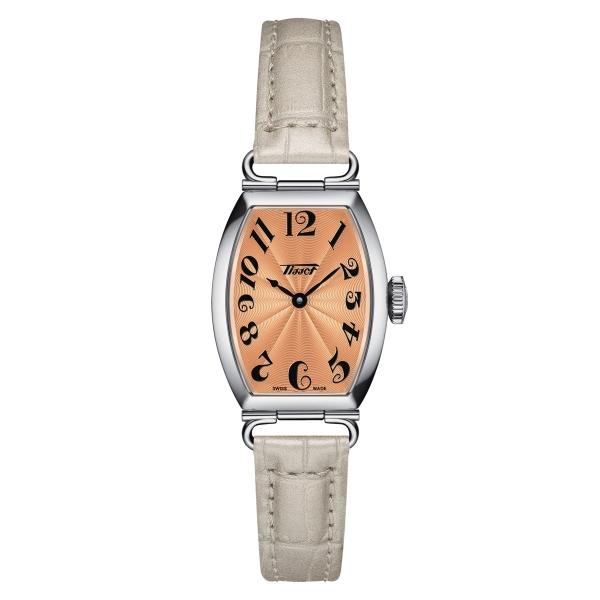 Tissot Heritage Porto Small Lady Damenuhr Orange Leder-Armband Quarz T128.109.16.282.00