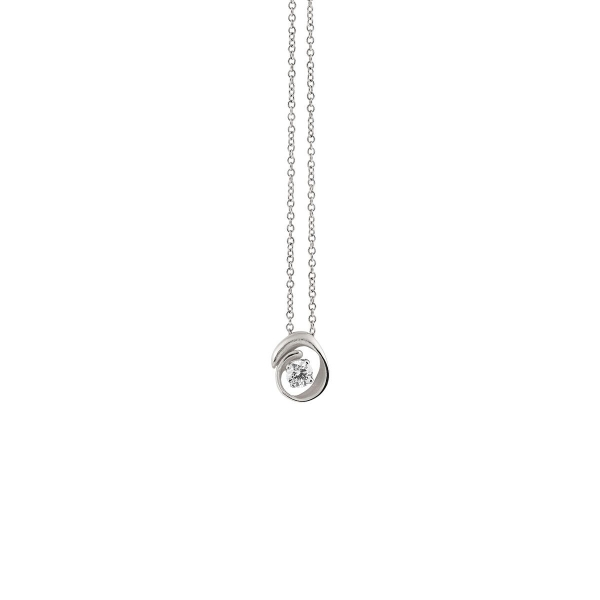 Annamaria Cammilli Halskette White Ice Weißgold 18 Kt Anhänger mit Diamanten Dune Assolo GPE1547W | UHREN01