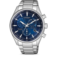 Citizen Eco-Drive Funkuhr Chronograph Super Titanium in blau CB5020-87L