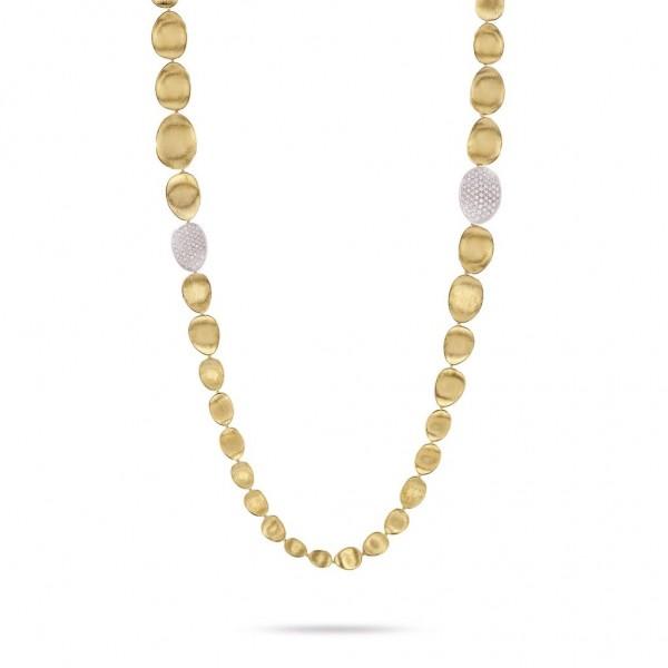 Marco Bicego Diamant Lunaria Halskette CB1885 B YW 100cm aus Gelbgold mit 2,25 ct Diamanten