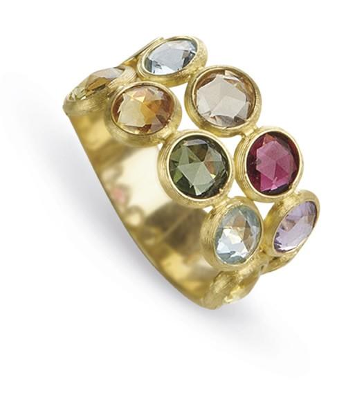 Marco Bicego Ring Jaipur AB462-MIX01 mit 2 Strängen Edelsteinmix