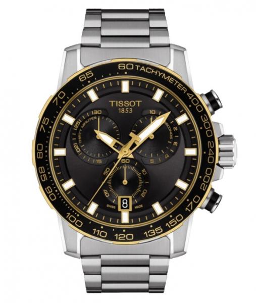 Tissot Supersport Chrono Schwarz Edelstahl-Armband 45mm Quarz T125.617.21.051.00