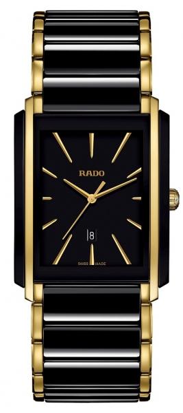 Rado Integral Herrenuhr Bicolor Schwarz Gold R20204162 | Sale | UHREN01