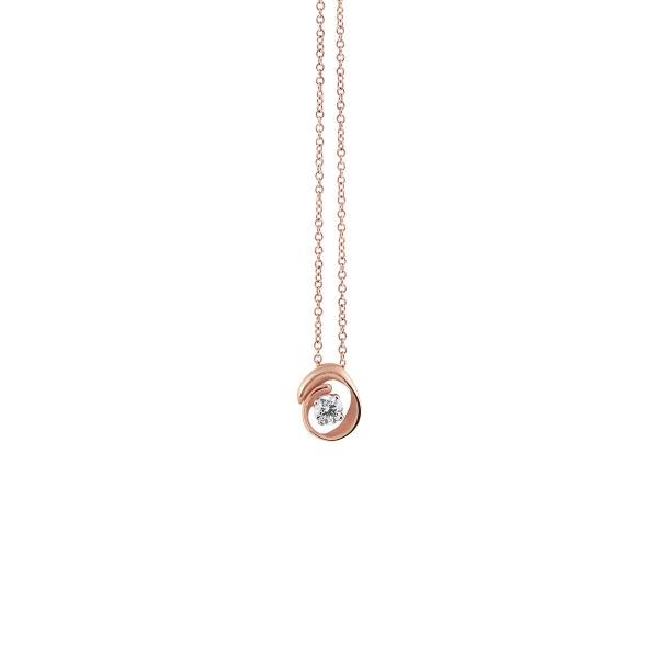 Annamaria Cammilli Halskette Rosegold Pink Champagne 18 Kt Anhänger mit Diamanten Dune Assolo GPE1547P | UHREN01