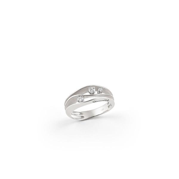 Annamaria Cammilli Ring Dune mit Diamanten & White Ice Weißgold 18 Karat GAN2662W