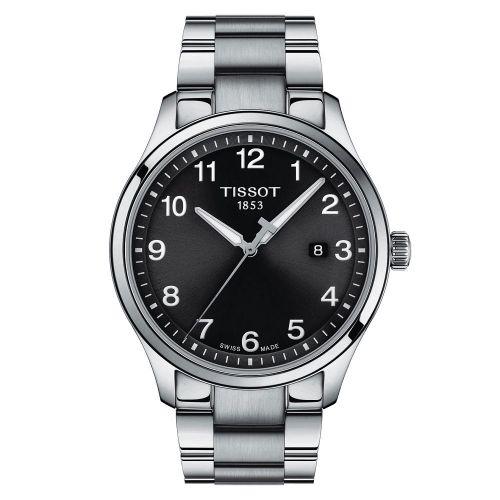 Tissot Gent XL Classic Schwarz Edelstahl-Armband 42mm Quarz Herrenuhr T116.410.16.047.00   UHREN01