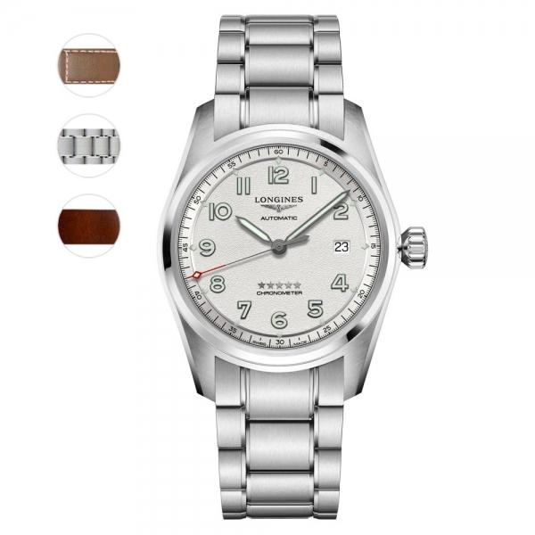 Longines Spirit Prestige Edition Automatik Herrenuhr 40mm Silber L3.810.4.73.9