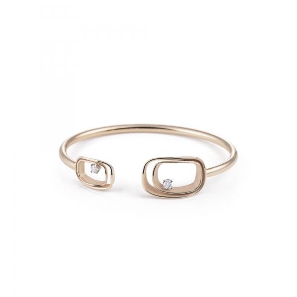 Annamaria Cammilli Armband 18 Karat Natural Beige Gold & Diamanten Armspange Serie Uno GBR2791N  | UHREN01
