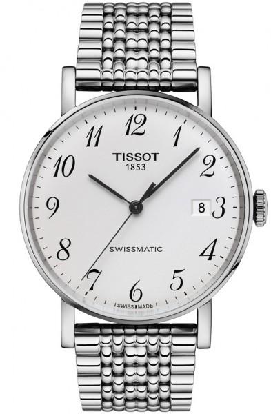 Tissot Everytime Swissmatic 40mm Automatik Herrenuhr mit silbernem Zifferblatt & Edelstahl-Armband T1094071103200