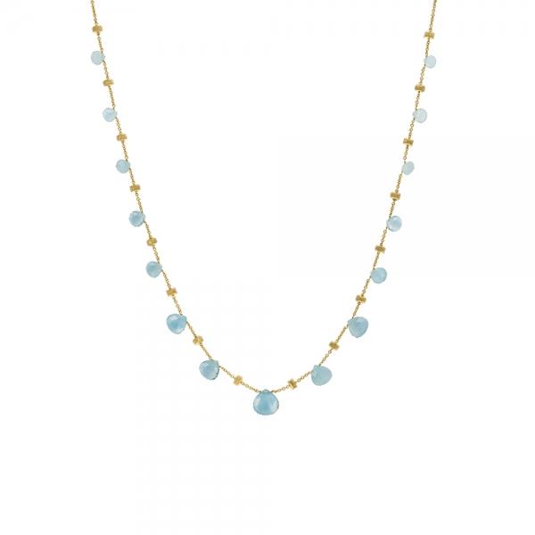 Marco Bicego Kette Collier Paradise Gold & Aquamarine Edelsteine CB1865-AQ01