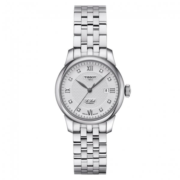 Tissot Le Locle Automatic Lady Damen Uhr Silber mit Metallarmband & Diamanten 29mm T006.207.11.036.00 | UHREN01