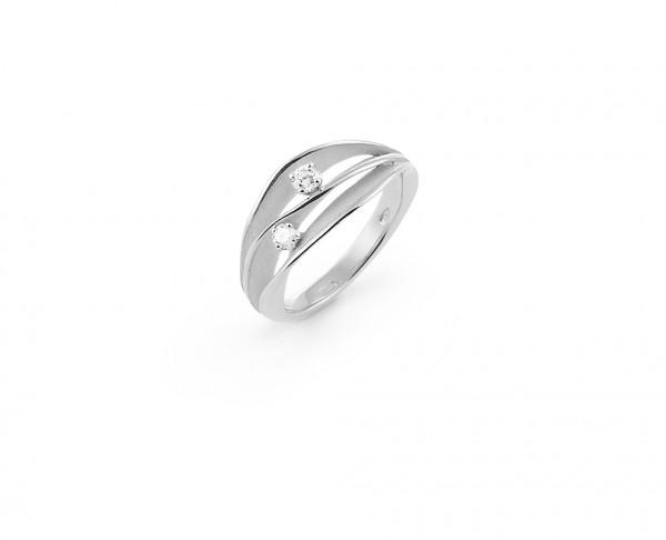 Annamaria Cammilli Damen Ring DUNE aus 750er Weißgold mit 2 Brillanten GAN1941W