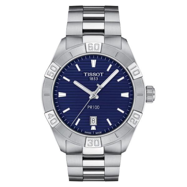 Tissot PR 100 Sport 42mm Blau Edelstahl-Armband Quarz Herrenuhr T101.610.11.041.00